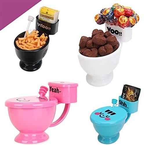 Aliciashouse Creative WC drôle Siège de Toilette Tasse de café de thé Snack Holder Eau Potable -Blanc Cup