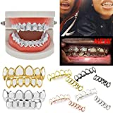 Iusun 1Pcs Hip Hop Teeth Grills, Top & Bottom Grill Teeth Grills Removable Mouth Teeth Grills (C)