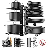 Pot Rack Organizer, 3 DIY Methods, Height and Position are Adjustable - 8