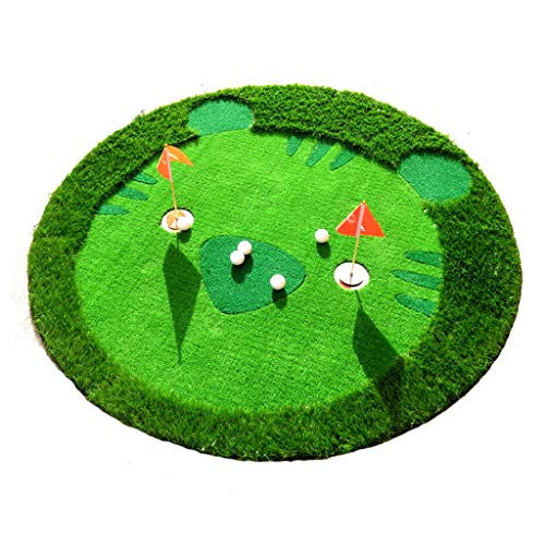 Review RFJJAL Children's Golf Greens Indoor and Outdoor Putting Practice Mats Mini Golf Mats