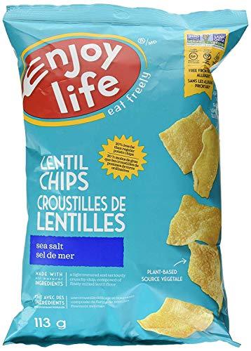 Enjoy Life Sea Salt Lentil Chips, Dairy Free Chips , 4 oz