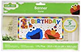 amscan Sesame Street Elmo Turns One Horizontal Giant Sign Banner, Birthday