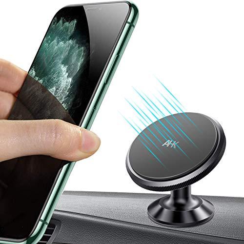 AHK Support Téléphone Voiture Magnétique, Porte Voiture Universel avec Rotation 360° Compatible avec iPhone 11/11 Pro/XS/XR, Samsung Galaxy S20/S10/A70, LG, Huawei, REDMI, etc