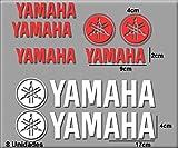 Ecoshirt H1-G8F5-QXCG - Pegatinas Stickers Moto GP Xmax R122, Blanco/Rojo