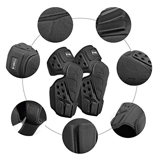 Knee Pads,Ergonomic Comfortable Adjustable Velvet Linings Mountain Bike Knee Pads with One-time Adjustment and Quick Release Strap System,Knee Protection for Motorcycles, Cross-Country Motorcycles