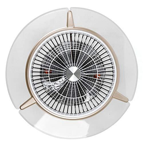 Futchoy - Ventilador de techo LED con iluminación (48 W, regulable, con mando a distancia)
