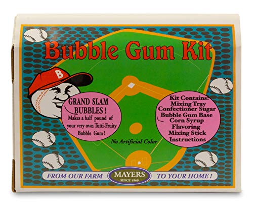 Make Your Own Bubble Gum Kit   Create a Half Pound or 50 Pieces of Your Own Tutti Fruity Flavored Gum within Hours   Contains Mixing Tray, Ingredients, Mixing Stick and Complete Instructions