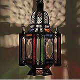 Casa Moro   Lámpara oriental Lámpara colgante marroquí Fadila colorida H 55 cm en metal y vidrio   artesanía de Marruecos   Espléndida lámpara colgante como de 1001 noches   L1259