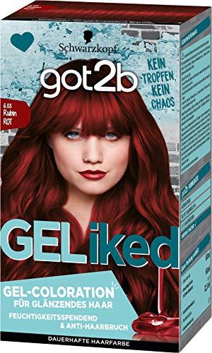 got2b GELiked Gel-Coloration 6.88 Rubin Rot Stufe 3, 3er Pack(3 x 143 ml)