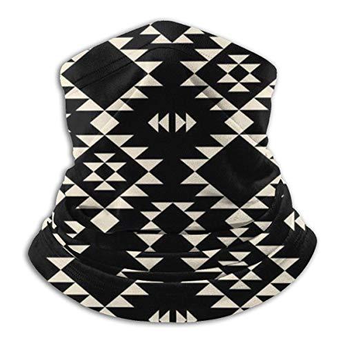 GWrix slangenschaal, naadloze halsdoek, halsdoek, halsmanchet, ronde schaal, geometrische Navajo zwart off-white halswarmer, gezichtsscarf voor stof, slangenmuts, gezichtswarmer, sport hoofddoek