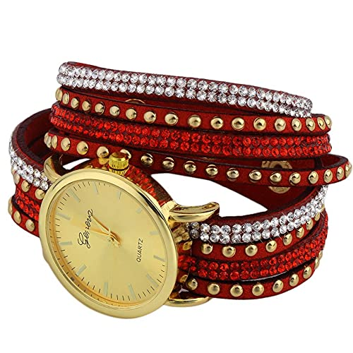 LeftSuper Reloj de Pulsera Relogio para Mujer, Pulsera de Moda Envolvente, Vestido de Moda, Relojes de Pulsera para Mujer, Reloj para Mujer