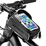 ROCKBROS Bike Front Frame Bag Cycling Waterproof Top Tube Frame Pannier Mobile Phone