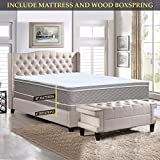 Nutan 10-Inch Medium plush' Eurotop Innerspring Mattress And 4-Inch Wood Boxspring/Foundation Set Queen