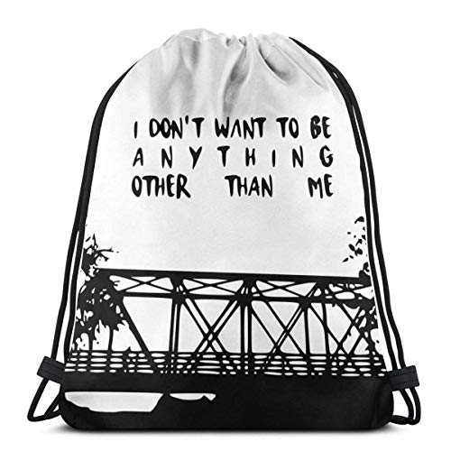 Lsjuee Shoulder Drawstring Bag One Tree Hill Bridge Backpack Sport Bag String Bags School Rucksack Gym Lightweight