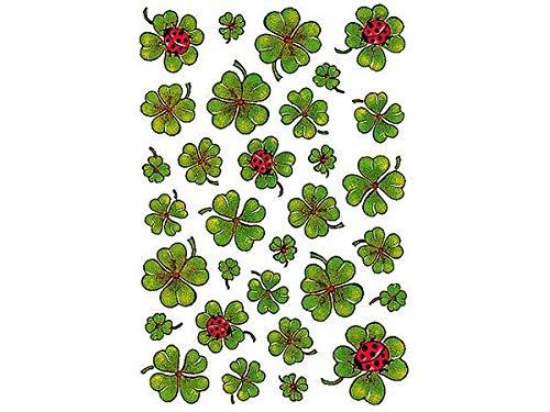 """Preisvergleich Produktbild HERMA Sticker DECOR """"Kleeblätter"""" Inhalt: 3 Blatt à 31 Sticker (5438)"""