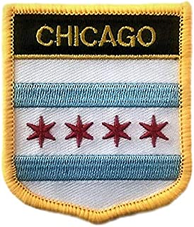 Chicago Flag Shield City Patch