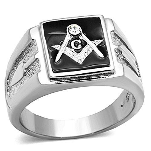 Marimor Jewelry Men's Stainless Steel 316 Crystal...