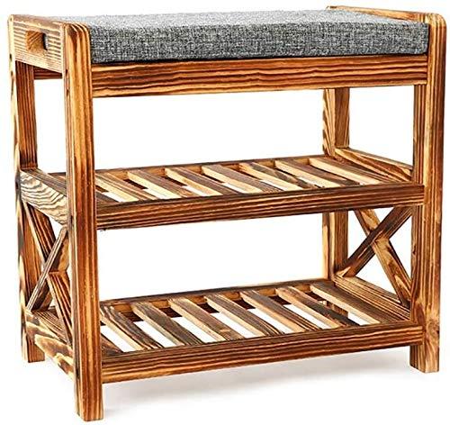 ZTMN Möbel Schuhmöbel Schuhbank Massivholzschuhschrank modernen minimalistischer einfacher Sofa Hocker Schuhregal Rack-Tür Schuhe Hocker Tür zu ändern Schuhsitz (Farbe: A, Größe: 50cm * 30cm * 48cm)
