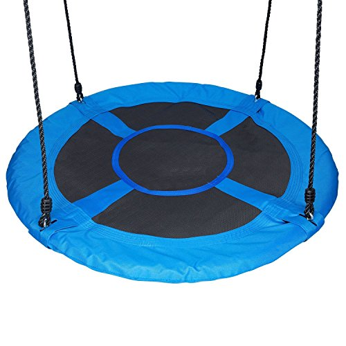 HYCLAT 40' Saucer Tree Swing Durable Strong Blue Large Size Wed Swing Activity One Completed Set