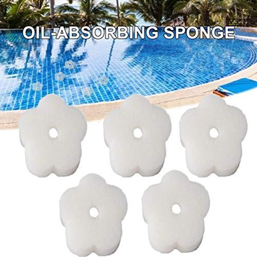 Calayu Filterballen, zwembad filtersponzen olieabsorberende spons crèmige olie absorberende schuimsponzen voor badkuip, zwembad 2 stuks 10 * 3cm B