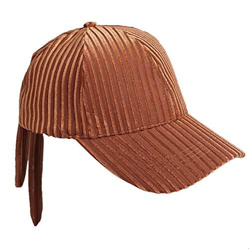 Yifuty Gorra de béisbol Gorra de béisbol Gorra de béisbol del bowknot de la pana de la tela cruzada del casquillo del sombrero Granja casquillo del carro del sombrero del algodón al aire libre Pares o