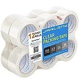 JARLINK Transparentes Packband (12 Rollen), robustes Verpackungsklebeband für Versandverpackungen, Umzugsversiegelung, stärker und dicker, 2,8 mm, 5,1 cm breit, 60 Meter pro Rolle, 780 Yards