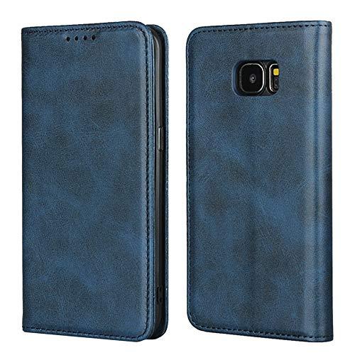 Dotty Horse Texture Real Fleigned Leather Wallet Funda con ranuras de tarjetas y función de Kickstand para Samsung Galaxy S7 Edge, Funda Folio de RIFF, para Samsung Galaxy S7 Funda de borde