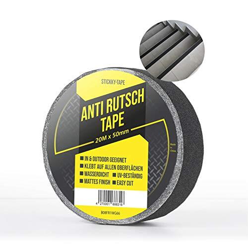 AVOXXO® Anti Rutsch Klebeband [20M x5cm] - schwarz - In & Outdoor - für alle Untergründe - extrem hohe Klebekraft - robust einfache Montage.