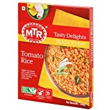 Tomato rice dish is a famous dish from south India Made with rice, tomato paste, spices and fresh vegetable MTR Ready to Eat is the contemporary way to authentic Indian food. Our Products are backed by Culinary expertise honed over 8 decades of servi...
