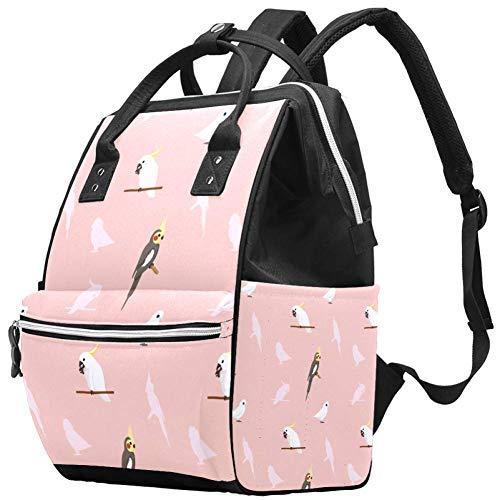 Grand sac à langer multifonction pour bébé, perroquet, coq, corella, cacatoès, sac à dos de voyage pour maman et papa