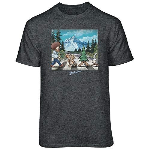 Teelocity Bob Ross Road Walk Graphic T-Shirt (X-Large - Standard Fit,...