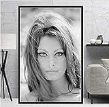 NOVELOVE Wandkunst Bild Sophia Loren Filmschauspielerin