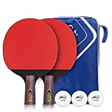 Table Tennis Set with 2 Ping Pong Paddles and 3 Ping Pong Balls+Premium
