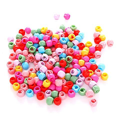 Haarklammer Clips, SenPuSi Mini Haar Klammer Clips Bunte Perle Haar Nadeln Schellen Kleine Kunststoff Haar Klammern Regenbogen Perlen Clip Für Kinder Mädchen Frauen (Regenbogen Mix)