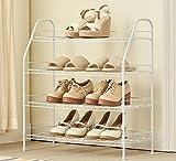 Shoe rack Zapatero de Acero Al Carbono de 4 Niveles, Ensamble un Estilo Minimalista Minimalista Blanco, 65 X 28 X 70 cm