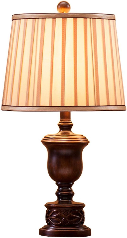 Retro Tischlampe Europäischen Harz Schlafzimmer Nachttischlampe E27 (größe   L) B07GKM9JTH     | Eleganter Stil