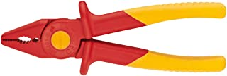 Knipex Tools 98 62 01 Snipe Nose Plastic Pliers 1000V Insulated, Red/Yellow