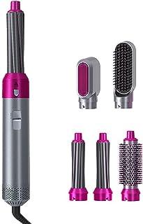 Hårplattång borste hårtorksborste snabbtorkande varmluftsborste multifunktionell hårlockar bärbar elektrisk utjämningsborste