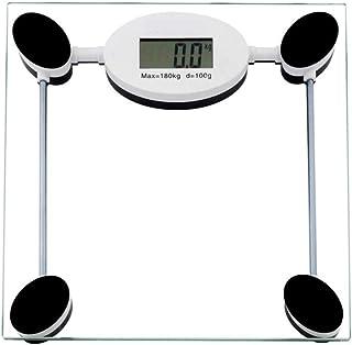 JINHH Báscula de baño Digital, Báscula de baño Digital, Báscula de pesaje Báscula de baño de Peso, Báscula electrónica Digital LCD de Alta precisión, Básculas de Vidrio Templado Máx. 180 kg