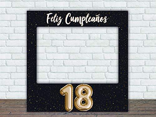 Photocall Feliz 18 Cumpleaños | 80 x 80 cm | Regalos para Cumpleaños | Photocall Económico y Original | Ideas para Regalos | Regalos Personalizados de Cumpleaños