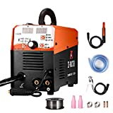 MIG Welder Flux Core IGBT 125A Gas/Gasless 220V Stick Mig Welding Inverter Welding Machine Including MIG/Stick/TIG Welder 3 in 1 Flux Cored Wire