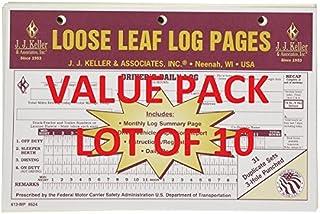 LOT OF 10 JJ KELLER 13-MP LOOSE LEAF DELUXE DUPLICATE DAILY LOG (613-MP)