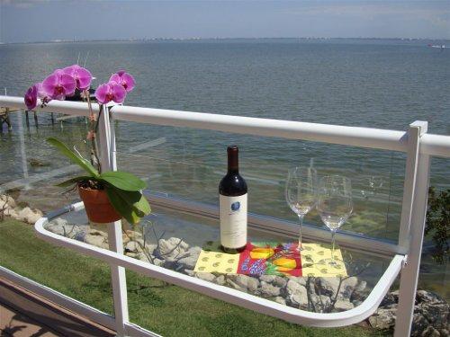 Big Sale Terrace Table (White) - Balcony Bar Patio Table Furniture