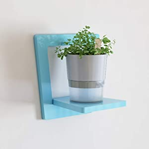 LBYMYB Blue Wall Hanging Wall Shelf Living Room Bedroom Wall Decoration Plant Pot Rack 30x30x20cm Shelf