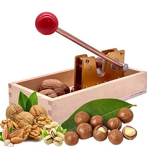 N\A Actualice Cascanueces Manual del Cascanueces para Nueces De Alta Resistencia,El Abridor De Macadamia con Mango De Base De Madera para Nueces, Avellanas, Nueces Almendras, Nueces De Brasil
