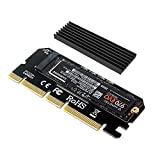 NVME Adapter PCIe x16 mit Kühlkörper, 6amLifestyle M.2 NVME oder AHCI SSD auf PCIE 3.0 Adapterkarte für Key M 2230, 2242, 2260, 2280 Größe M.2 SSD, unterstützt PCIe x4 x8 x16 Slot