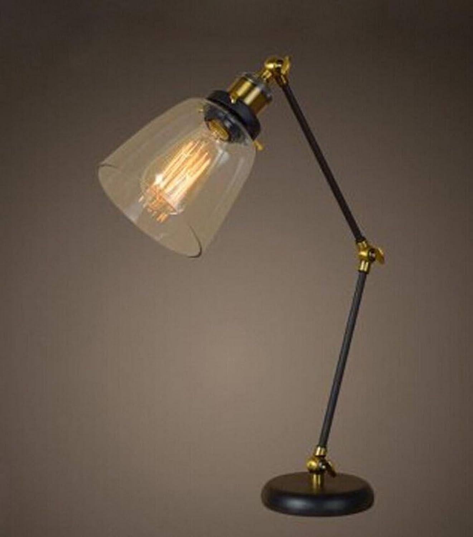 Leselicht Kreative Nachttischlampe kreative Lampe Vintage Tischleuchte aus Schmiedeeisen 13  50cm-c