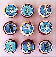 24 x PRE Cut Frozen Cupcake Toppers/Decoraties Eetbare Wafer Papier