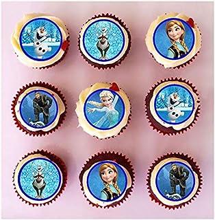 24 decoraciones comestibles de oblea de Frozen precortadas para cupcakes