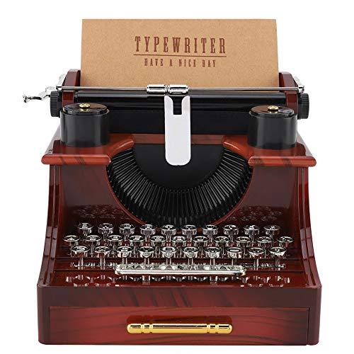 Carillon Stile Macchina da Scrivere, Carillon Meccanico Stile Macchina da Scrivere Vintage Carillon portagioie con cassetto Carillon con cassetto